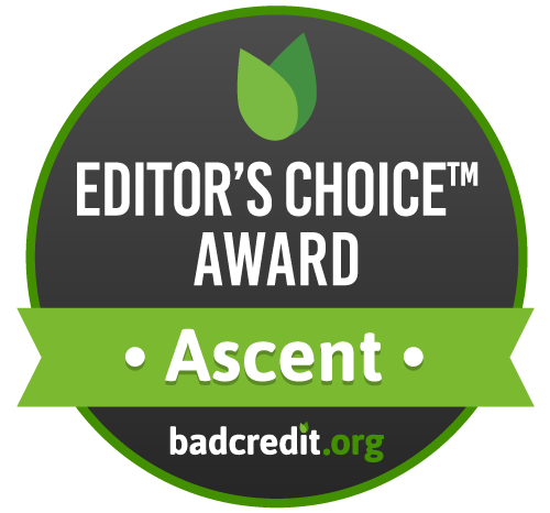 Editor's choice award badge for best loan by badcredit.org