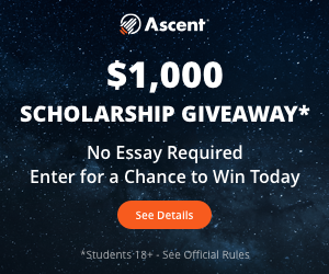 Ascent $1,000 Scholarship Giveaway